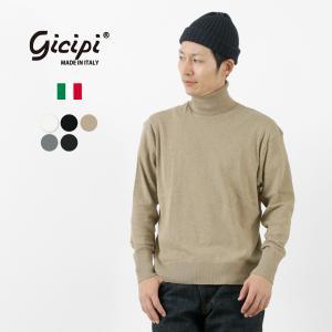 GICIPI(ジチピ) タートルネック ロングスリーブ Tシャツ / カットソー / 長袖 無地 / メンズ / イタリア製|rococo