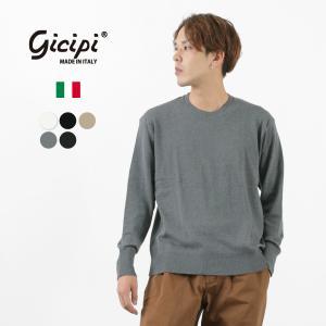 GICIPI(ジチピ) ロングスリーブTシャツ / カットソー / コットンニット / 長袖 無地 / メンズ / イタリア製|rococo