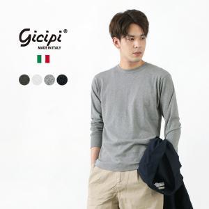 【限定クーポン対象】GICIPI (ジチピ) ソフトコットン フライス ロングスリーブTシャツ / ...