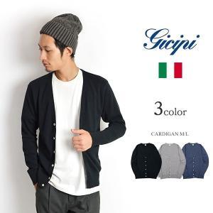 GICIPI(ジチピ) コットンカーディガン / カットソー / コットンニット / 長袖 無地 / メンズ / イタリア製|rococo