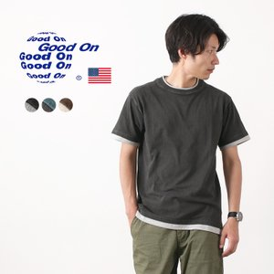 GOOD ON(グッドオン) カラー別注 レイヤー ショートスリーブ Tシャツ / メンズ / ピグ...