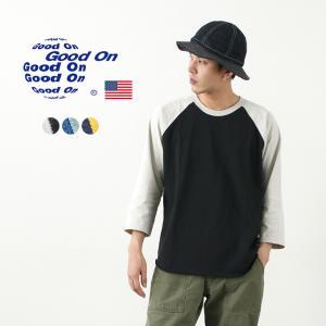 GOOD ON(グッドオン) コンビ ベースボール Tシャツ / ラグラン 7分袖 / メンズ / ...