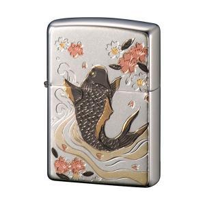 【ZP 電鋳板 鯉(電鋳貼り)】ZIPPO・ジッポー・オイルライター|rocoslife