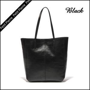 【Petit Pierre(プティットピエール)牛革トートバッグ】ブラック・本革・A4・レディース・ショルダーバッグ|rocoslife