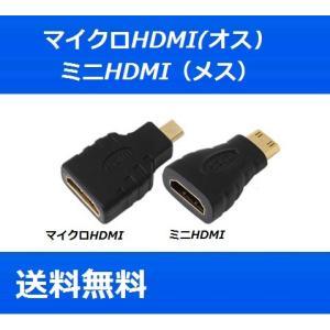 micro mini HDMIケーブル 変換アダプタ [HDMI(メス)/マイクロHDMI(オス)] [HDMI(メス)/ミニHDMI(オス)] 各種変換コネクタ 中継器