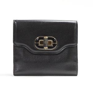 ブルガリ 二つ折財布 パルメラートWホック 35956 カーフ 中古A品 1369727_関内店