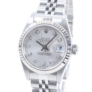 ロレックス レディース腕時計 オイスターパーペチュアルデイトジャスト 79174G ステンレスxホワ...