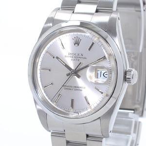 ロレックス ボーイズ腕時計 オイスターパーペチュアルデイト 15000 ステンレス 中古A品 141...