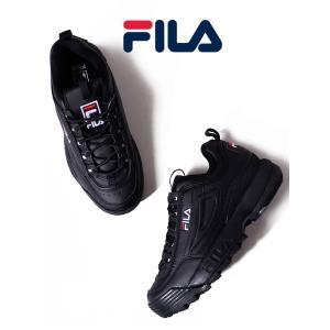 土日祝日も営業  FILA DISRUPTOR 2 BLACK Sneaker フィラ ディスラプタ...