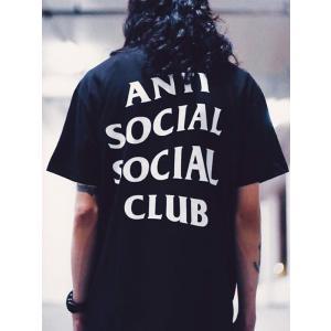 Anti Social Social Club Tシャツ メンズ レディース ユニセックス 半袖 黒...