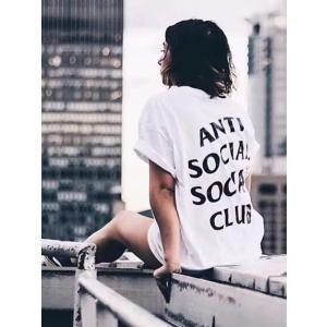 Anti Social Social Club Tシャツ メンズ レディース ユニセックス 半袖 白...