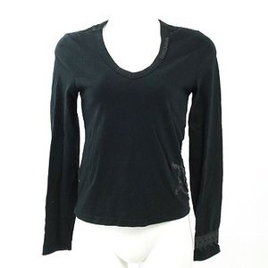 スタニングルアー(STUNNING LURE)黒刺繍ロングTシャツ 38|rodeogallery