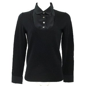 お値下げ!アンタイトル(UNTITLED)黒ニットシャツ 2 ★ 12140410-014|rodeogallery