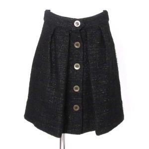 シーバイクロエ(SEE BY CHLOE)黒釦ラメツイードスカート|rodeogallery