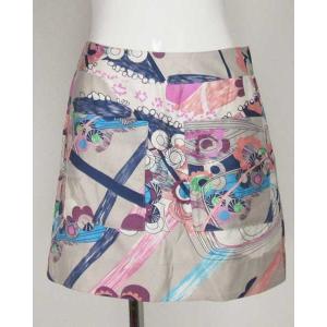 シーバイクロエ(SEE BY CHLOE)薄グレー紺ピンクミニスカート 2|rodeogallery