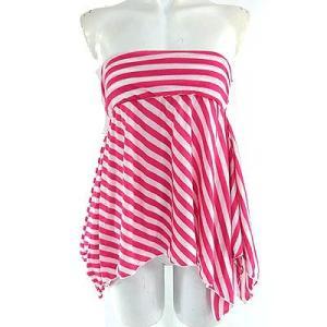 フリーズフレーズ(FREE'Sピンク白ボーダーチューブスカート|rodeogallery