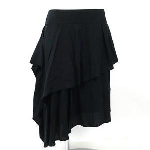 プライド(PRIDE)黒アシンメトリースカート 40|rodeogallery