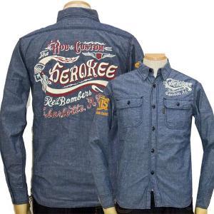 MWS 長袖シャツ ネップシャンブレー アメカジワークシャツ 1011004 #77紺 新品|rodeomatubara