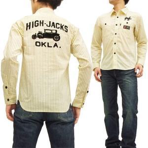 MWS ワークシャツ ドットストライプ チェーン刺繍 ハイジャックス アメカジ バイカー 長袖シャツ 1015000 新品|rodeomatubara