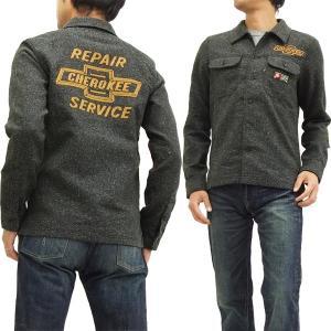 MWS ガソリンシャツ ジャズネップ ワークシャツ 1115002 メンズ 長袖シャツ チェロキーリペアサービス 新品|rodeomatubara