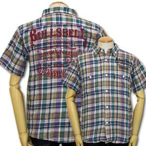 MWS アメカジ ワークシャツ チェック ブルズベルモーターオイル MWS-1511003 #55 紫 新品|rodeomatubara