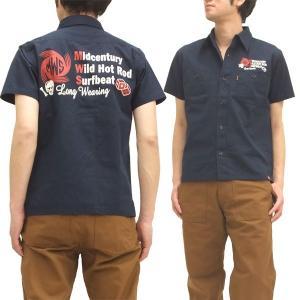 MWS アメカジシャツ ヘリンボーン MWS定番柄 1513005 ダークネイビー 新品|rodeomatubara