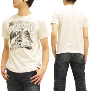 MWS 半袖Tシャツ アメリカン バイカーズ  ゴールドイーグルス 1513701 オフ白 3L 新品|rodeomatubara