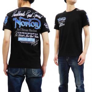 ノートン Tシャツ Norton Motorcycle 半袖Tシャツ ベア天竺 吸水速乾 ブルースチ...