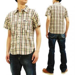 フェローズ ワークシャツ Pherrow's 手書き風チェック 半袖シャツ 19S-720WSS-CH ブラック系 新品|rodeomatubara