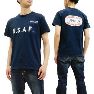 フェローズ 半袖Tシャツ PHERROWS Tシャツ U.S.A.F. ポケットTee 19S-PPT2 G.ネイビー 新品|rodeomatubara