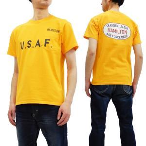 フェローズ 半袖Tシャツ PHERROWS Tシャツ U.S.A.F. ポケットTee 19S-PPT2 ゴールド 新品|rodeomatubara