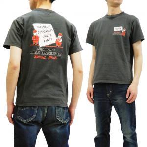 フェローズ 半袖Tシャツ PHERROWS UTILITY CLOTHING CO. Tシャツ 19S-PT6 チャコール 新品|rodeomatubara
