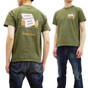 フェローズ Tシャツ PHERROWS UTILITY CLOTHING CO. 半袖Tシャツ 19S-PT6 サンドグリーン 新品|rodeomatubara