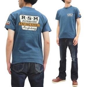 フェローズ 半袖Tシャツ PHERROWS Tシャツ R.S.M. レース用パーツ製造業 20S-PT3 ブルーグレー 新品|rodeomatubara