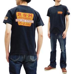 フェローズ 半袖Tシャツ PHERROWS Tシャツ R.S.M. レース用パーツ製造業 20S-PT3 S.ブラック 新品|rodeomatubara