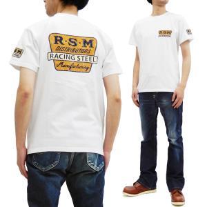 フェローズ 半袖Tシャツ PHERROWS Tシャツ R.S.M. レース用パーツ製造業 20S-PT3 ホワイト 新品|rodeomatubara