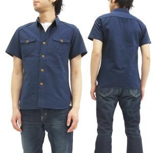 ステュディオ・ダ・ルチザン 無地 ワークシャツ 5557 ダルチザン 半袖シャツ インディゴ 新品