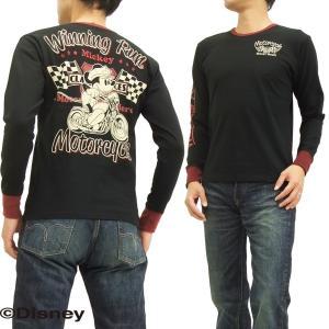 ローブローナックル 長袖Tシャツ ミッキーマウス ロンT 595508 ウイニングラン 黒 新品