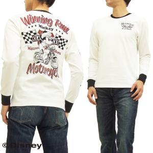 ローブローナックル 長袖Tシャツ ミッキーマウス ロンT 595508 ウイニングラン オフ白 新品