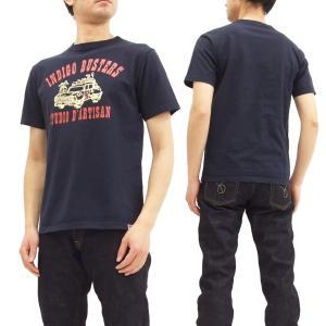 ステュディオダルチザン USAコットン Tシャツ studio d'artisan インディゴバスタ...