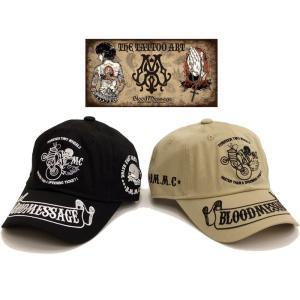 ブラッドメッセージ 六方キャップ BLC6-900 BLOODMESSAGE 総刺繍 エフ商会 STOCK RIDER コットン帽子 新品|rodeomatubara