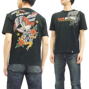 ブラッドメッセージ Tシャツ BLST-1020 Blood Message 半袖Tシャツ EAGLE エフ商会 黒 新品|rodeomatubara