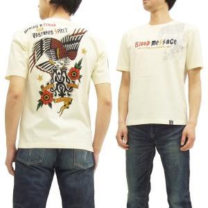 ブラッドメッセージ Tシャツ BLST-1020 Blood Message 半袖Tシャツ EAGLE エフ商会 オフ白 新品|rodeomatubara