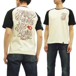 ブラッドメッセージ Tシャツ BLST-1040 Blood Message 半袖Tシャツ SCRIPT タトゥー エフ商会 オフ白×黒 新品|rodeomatubara