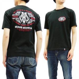 ブラッドメッセージ Tシャツ BLST-1090 Blood Message 半袖Tシャツ BM LOGO エフ商会 黒 新品|rodeomatubara