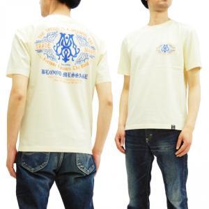 ブラッドメッセージ Tシャツ BLST-1090 Blood Message 半袖Tシャツ BM LOGO エフ商会 オフ白 新品|rodeomatubara
