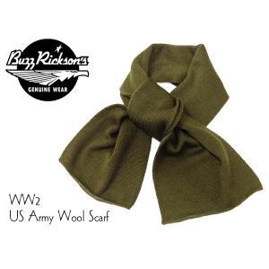 バズリクソンズ BR02559 ウール スカーフ Buzz Rickson ミリタリー マフラー オリーブ 新品|rodeomatubara