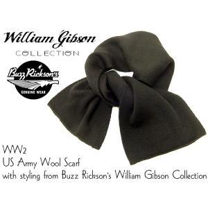バズリクソンズ ウィリアム・ギブソン BR02561 ウール スカーフ ミリタリー マフラー ブラック 新品|rodeomatubara