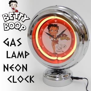 ベティブープ ガスランプ ネオンクロック ベティちゃん 置き時計 ネオンライト BT-BOOP 新品|rodeomatubara
