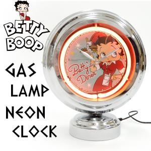 ベティブープ ガスランプ ネオンクロック ベティちゃん ダイナー 置き時計 ネオンライト BT-DINER 新品|rodeomatubara
